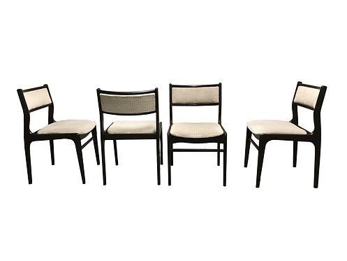 Scandinavian mid century dining chairs 1960s,set of 4