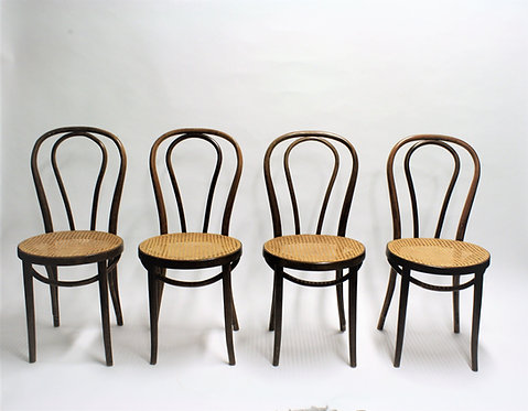 Thonet No. 18 Dining Chairs, 1950s, Set of 4