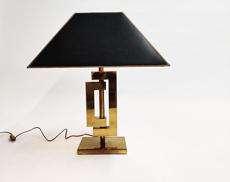 Vintage willy rizzo table lamp, 1970s