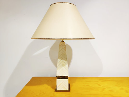 SOLD Vintage pyramid table lamp, 1970s