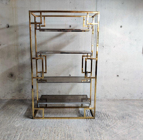 Willy Rizzo brass etagere, 1970s