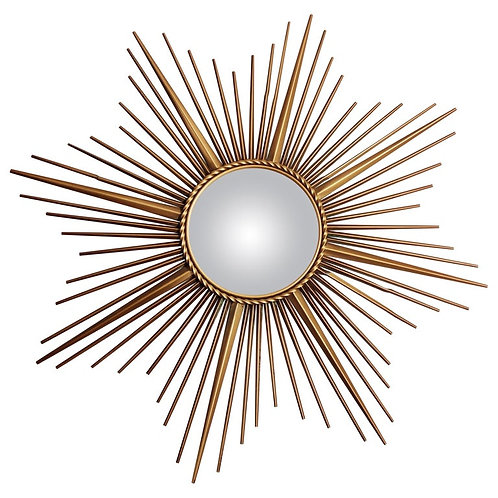 Chaty vallauris gilt metal sunburst mirror 1960s