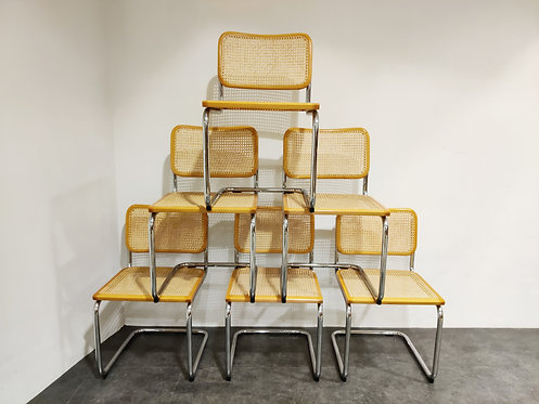 SOLD Vintage Marcel Breuer Cesca B32 chairs by Fasem, made in italy,