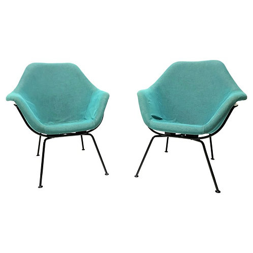 SOLD Vintage lounge chairs by Miroslav Navratil, set of two, 1950s