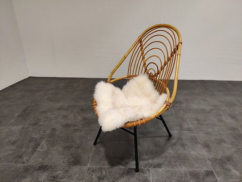 Vintage rattan chair by Rohe Noordwolde, 1960s