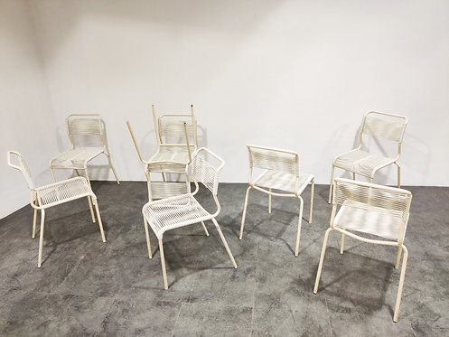 SOLD Vintage 'spaghetti' chairs, set of 6 - 1960s