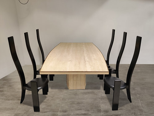 SOLD Willy rizzo dining table for Jean Charles, 1970s