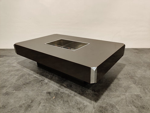 SOLD Alveo coffee table by Willy Rizzo, 1970s