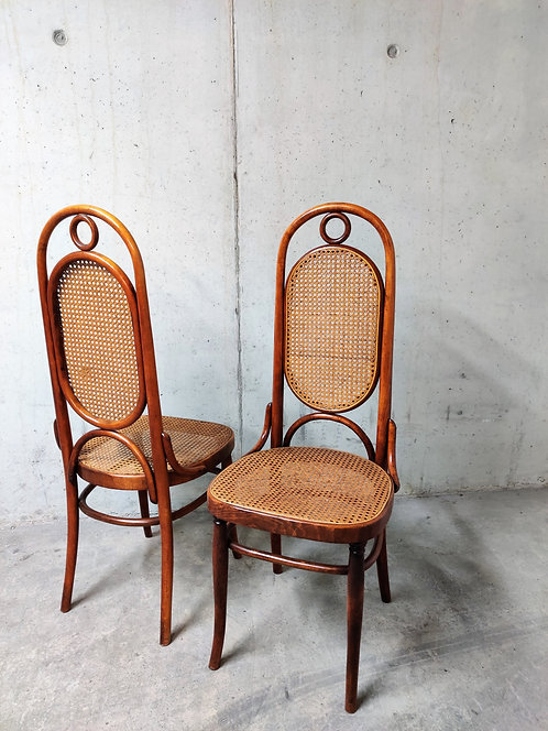 SOLD Thonet no. 17 dining chairs, set of two, 1980s
