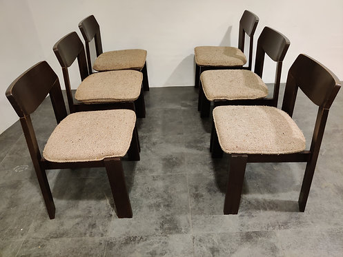SOLD Vintage brutalist dining chairs, set of 6 - 1960s
