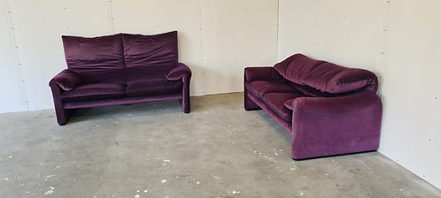 Pair of Maralunga sofas by Vico Magistretti for Cassina