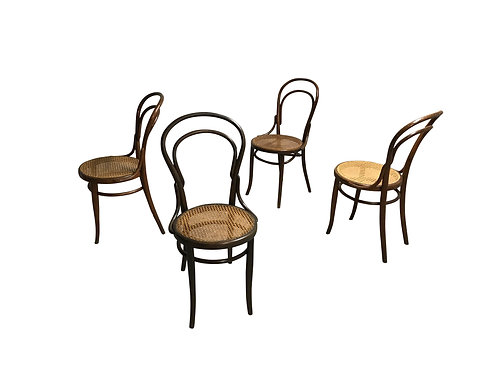 Thonet no. 14 Dining Chairs by J&J Kohn, 1950s, Set of 4