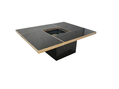 SOLD Hidden bar coffee table by Willy Rizzo, 1970s