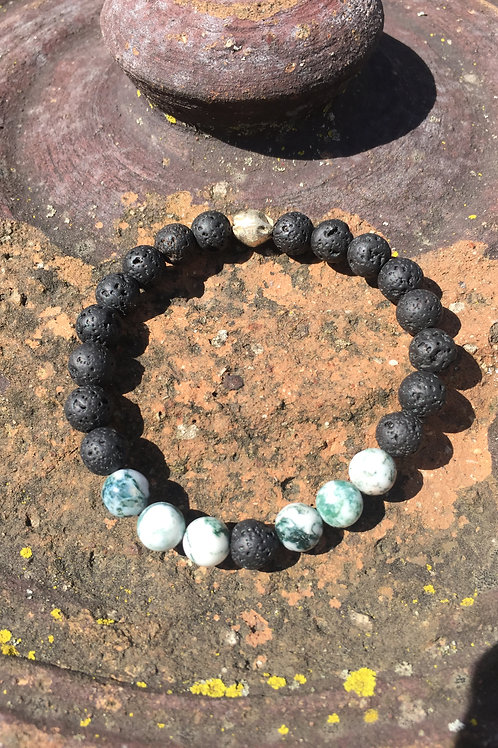 Moss Agate Diffuser Bracelet: Peace and Patience