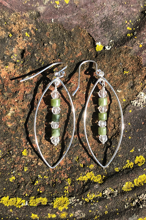 Irish Connemara Marble earrings