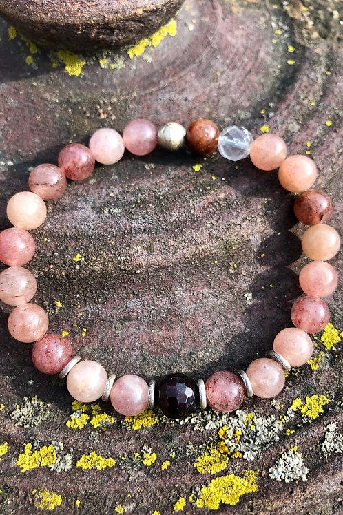 Muscovite and Garnet bracelet
