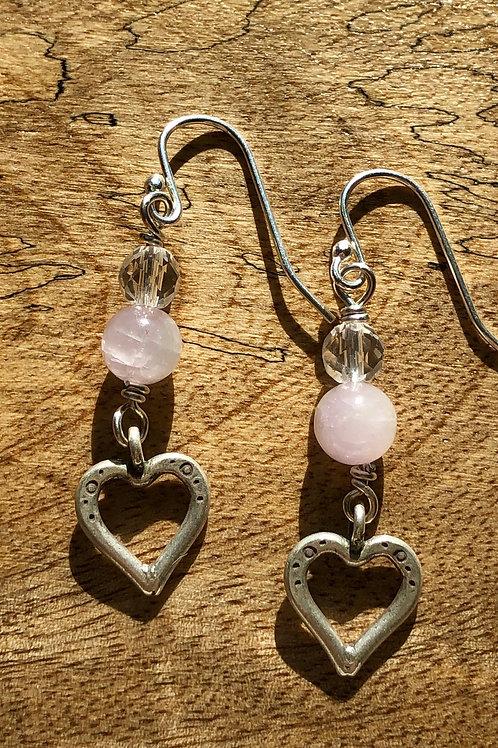 Kunzite Heart earrings