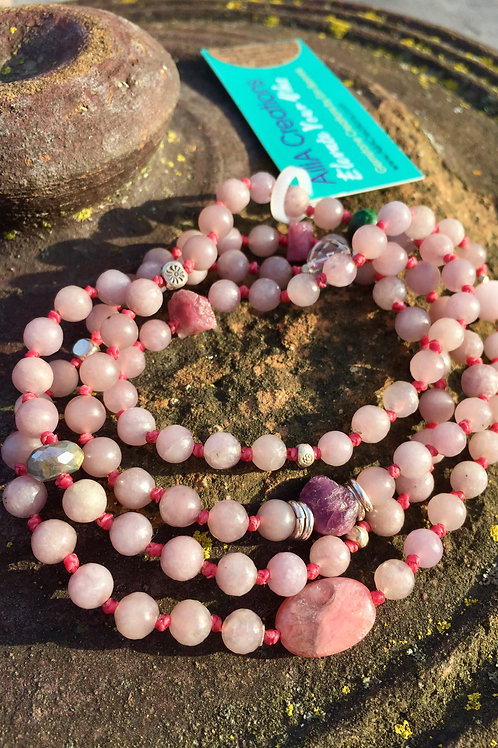 Healing the Heart: Lepidolite wrist mala