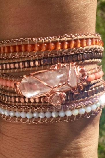 Record Keeper Bead Wrap Wrist Amulet: Manifest