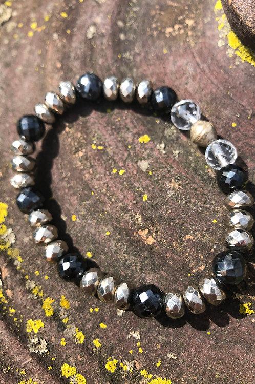 Bronze and Black Spinel bracelet