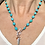 Thumbnail: Sleeping Beauty Turquoise chain with feather pendant and carnelian