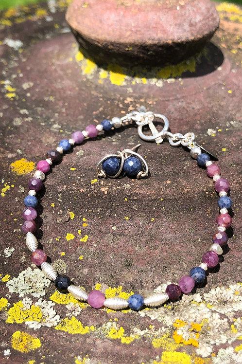 Sapphire scroll bracelet