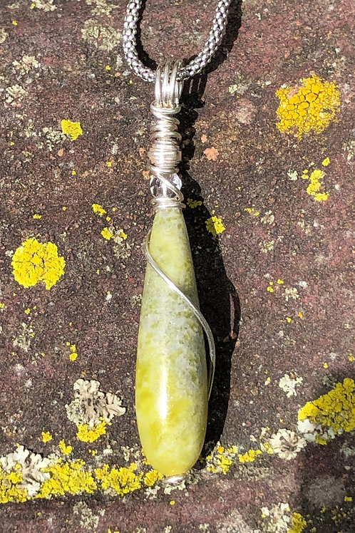 Connemara Marble teardrop necklace