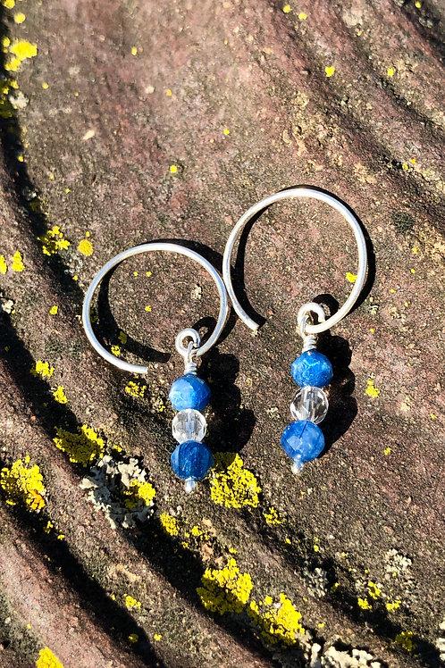 Small Faceted Kyanite earrings