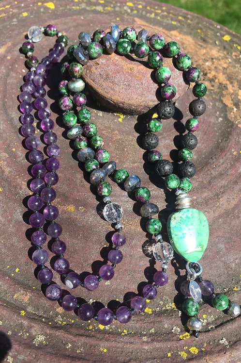 Life's Blessings Hand Knotted Diffuser Mala Necklace