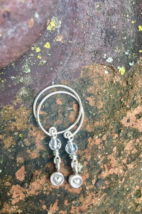Heart earrings (Karen Hill Tribe, Thailand)