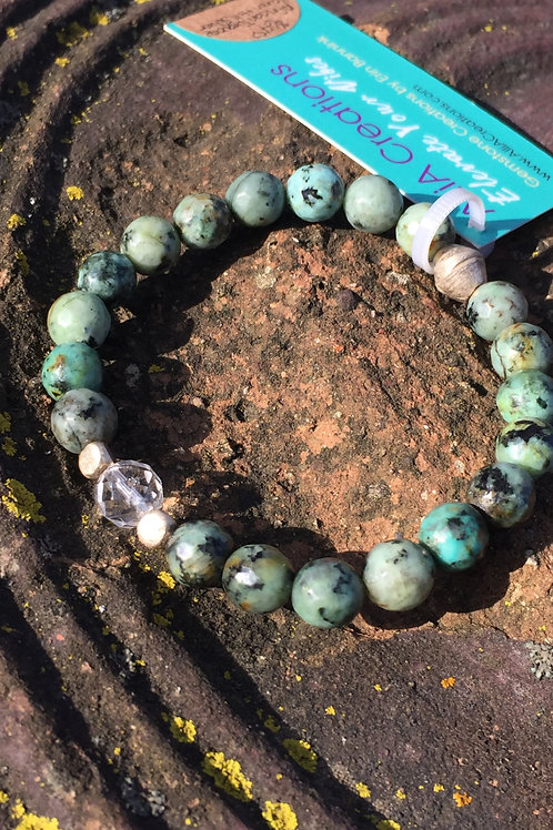 African Turquoise with Karen Hill Tribe Silver