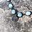 Thumbnail: Larimar chain with Pewter Lotus Charm.