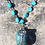 Thumbnail: Long Sleeping Beauty Turquoise chain with Turquoise pendant Charm