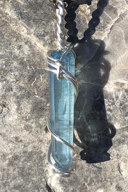 Aqua aura fairy pendant