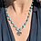 Thumbnail: Sleeping Beauty Turquoise chain with Lotus Charm