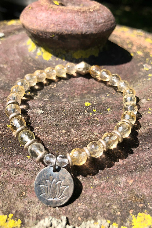Citrine and Lotus bracelet