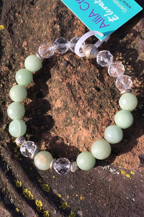 Aventurine with Leaf beads