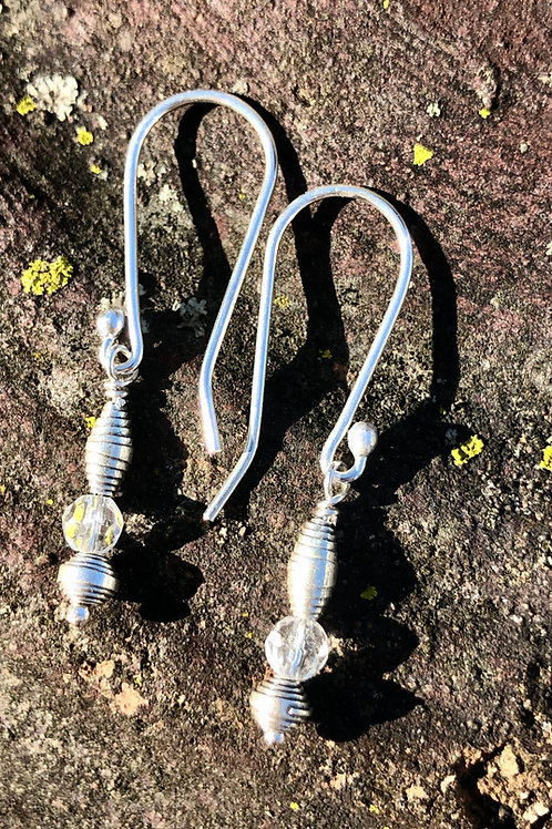 Scroll Earrings  (Karen Hill Tribe, Thailand)