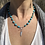 Thumbnail: Sleeping Beauty Turquoise chain with feather pendant