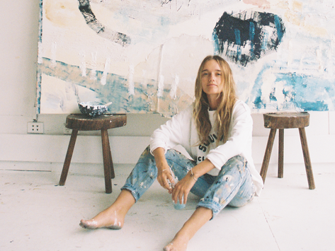 Dreamy, Soft Neutrals Expressing Visual Poetry with Art - Artist Spotlight Ashleigh Holmes