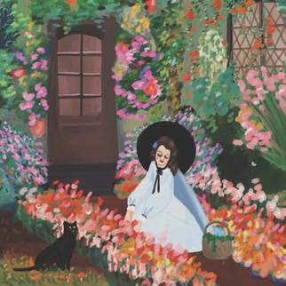 A Witch Gardening