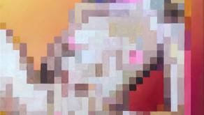 Satirical and Sexually Charged Pixel Paintings - Artist Print Gurl