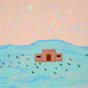 Oversized Desert Landscapes, Cotton Candy Skies, Myths and Magic - Artist April Nicole Armistead