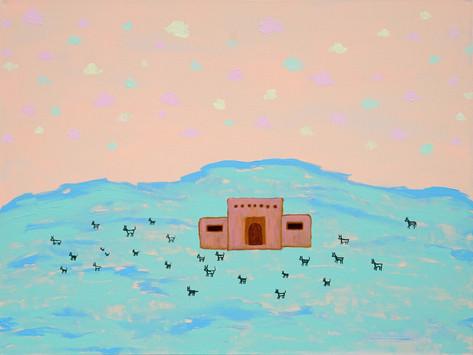 Oversized Desert Landscapes, Cotton Candy Skies, Myths and Magic - Artist April Nicole Armistead