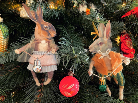 Wool Spun Ornaments and Goals for 2021