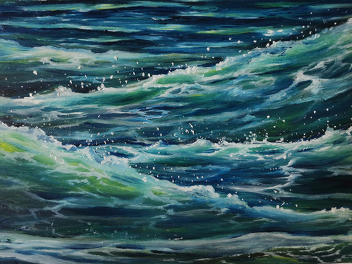 SEASCAPES PERSONIFIED BY POWERFUL WOMEN - ARTIST SOPHIE ADAIR