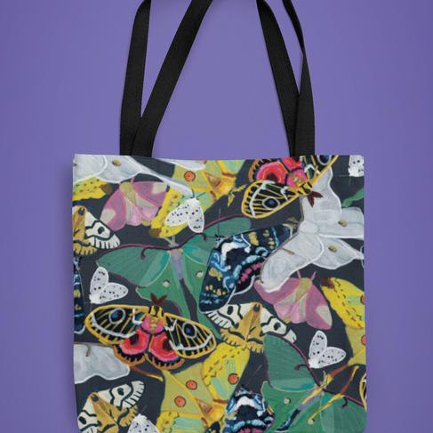 Nocturnal Moths Tote Bag