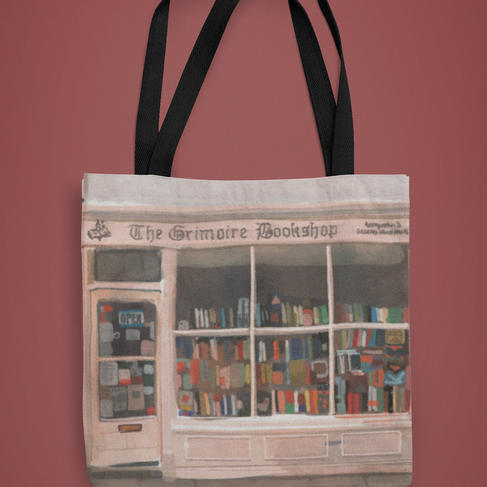 Corner Bookshop Tote Bag
