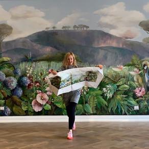 A Mural with Florals - Artist Kim Black