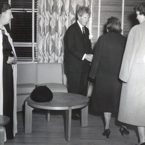 Dame Edith Switwell, left, Washington DC 1961